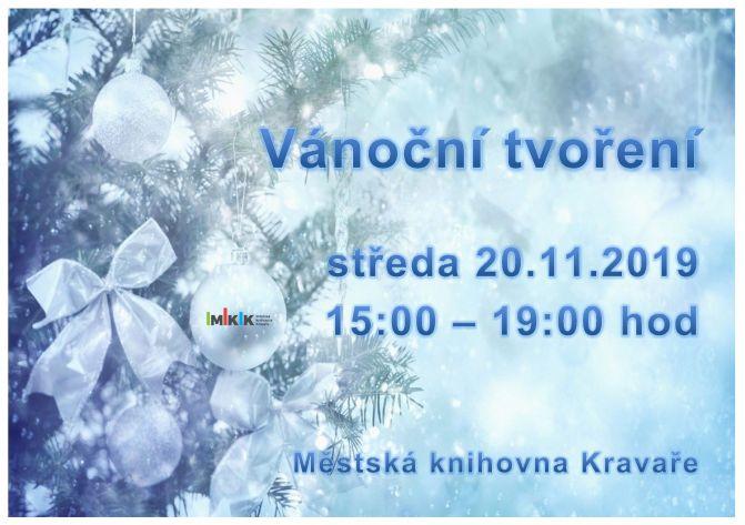 Vánoční tvoření - plakát