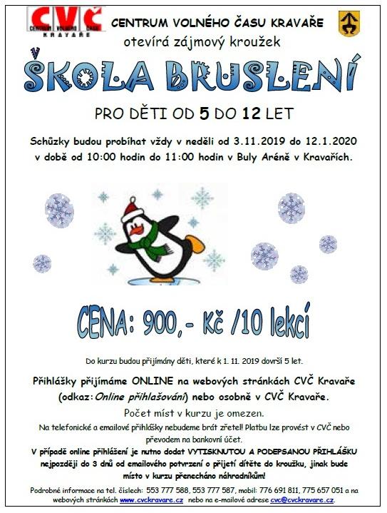 plakát kakci ŠKOLA BRUSLENÍ