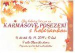 plakát k akci KARMÁŠOVÉ POSEZENÍ S KOBEŘANKOU