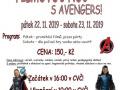 plakát k akci  FILMOVÁ NOC S AVENGERS