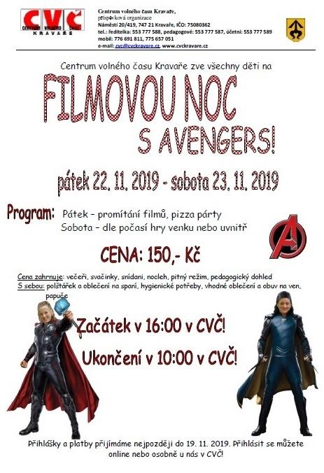 plakát kakci  FILMOVÁ NOC SAVENGERS