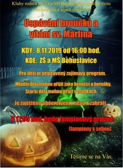 plakát kakci USPÁVÁNÍ BROUČKŮ AVÍTÁNÍ sv.MARTINA