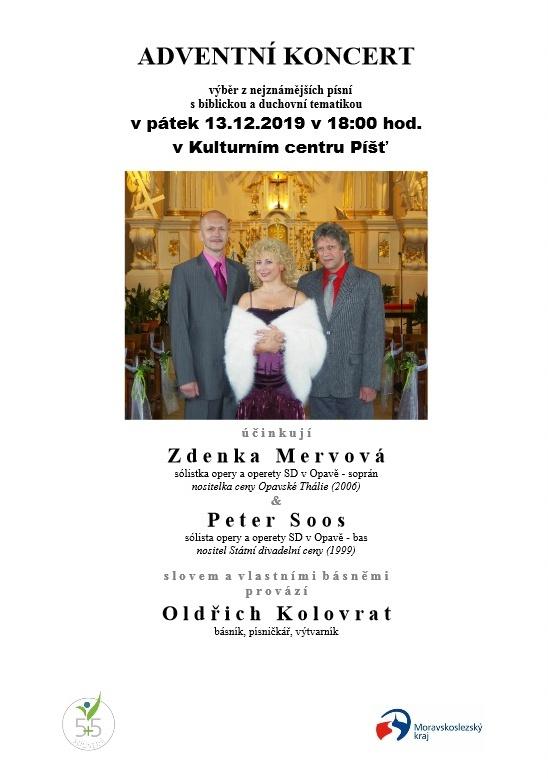 plakát kakci ADVENTNÍ KONCERT SBIBLICKOU ADUCHOVNÍ TÉMATIKOU