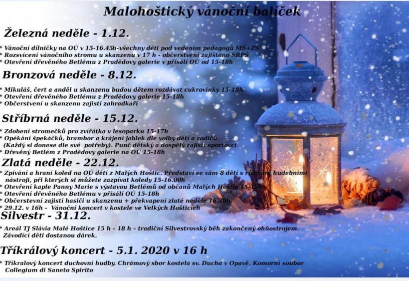 plakát kakci MALOHOŠTICKÝ VÁNOČNÍ BALÍČEK