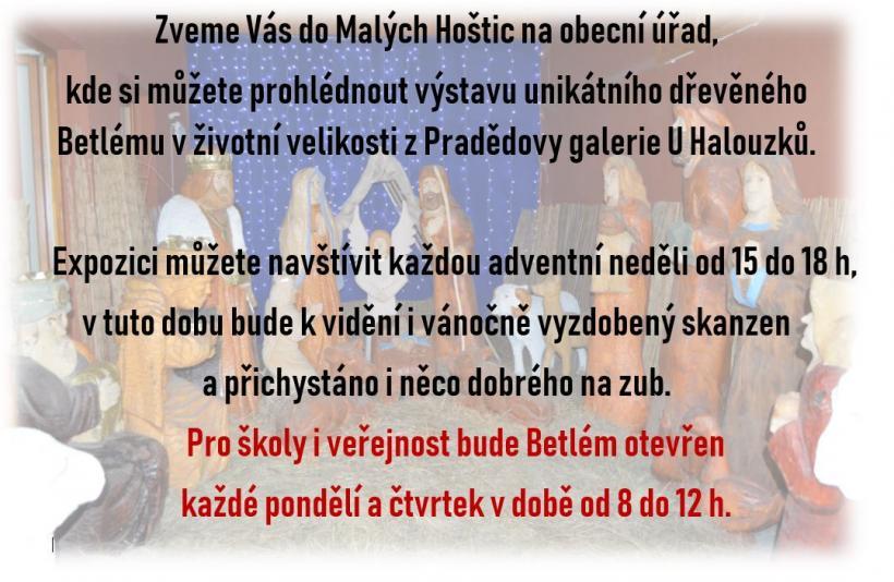 plakát kakci VÝSTAVA DŘEVĚNÉHO BETLÉMU