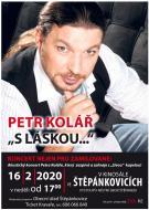 plakát k akci AKUSTICKÝ KONCERT PETRA KOLÁŘE 'S LÁSKOU...'
