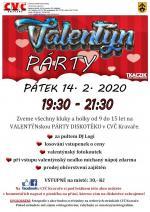 pozvánka na akci VALENTÝN PÁRTY