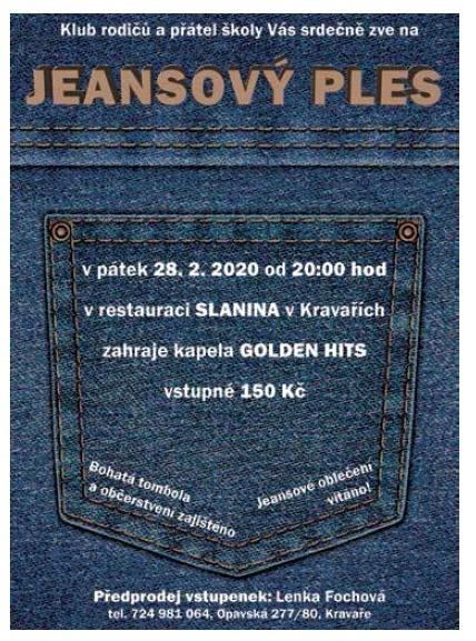 plakát kakci JEANSOVÝ PLES