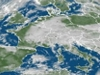 mapa počasí nad Evropou