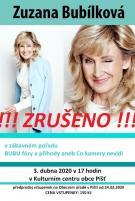 plakát ke zrušení zábavního pořadu BUBU FÓRY a PŘÍHODY ZUZANY BUBÍLKOVÉ