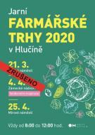 plakát ke zrušení akce JARNÍ FARMÁŘSKÉ TRHY