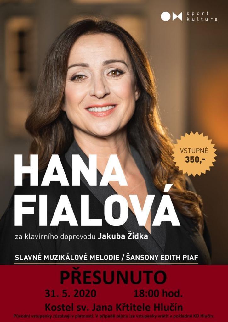 plakát kakci HANA FIALOVÁ/SLAVNÉ MUZIKÁLOVÉ MELODIE, ŠANSONY EDITH PIAF