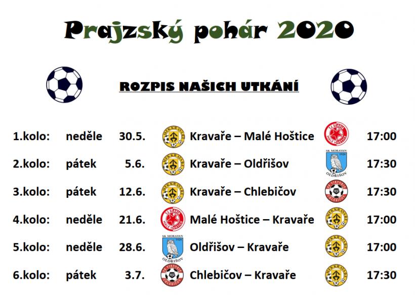 plakát kakci PRAJZSKÝ POHÁR 2020/pohár prajzských fotbalových týmů/