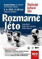 plakát k filmovému představení ROZMARNÉ LÉTO