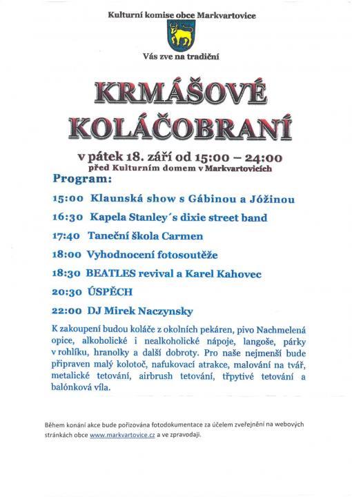 plakát kakci KRMÁŠOVÉ KOLÁČOBRANÍ
