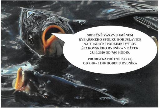 Plakát Výlov rybníka