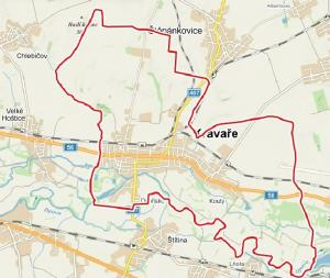 .Obr. mapa katastru Kravař