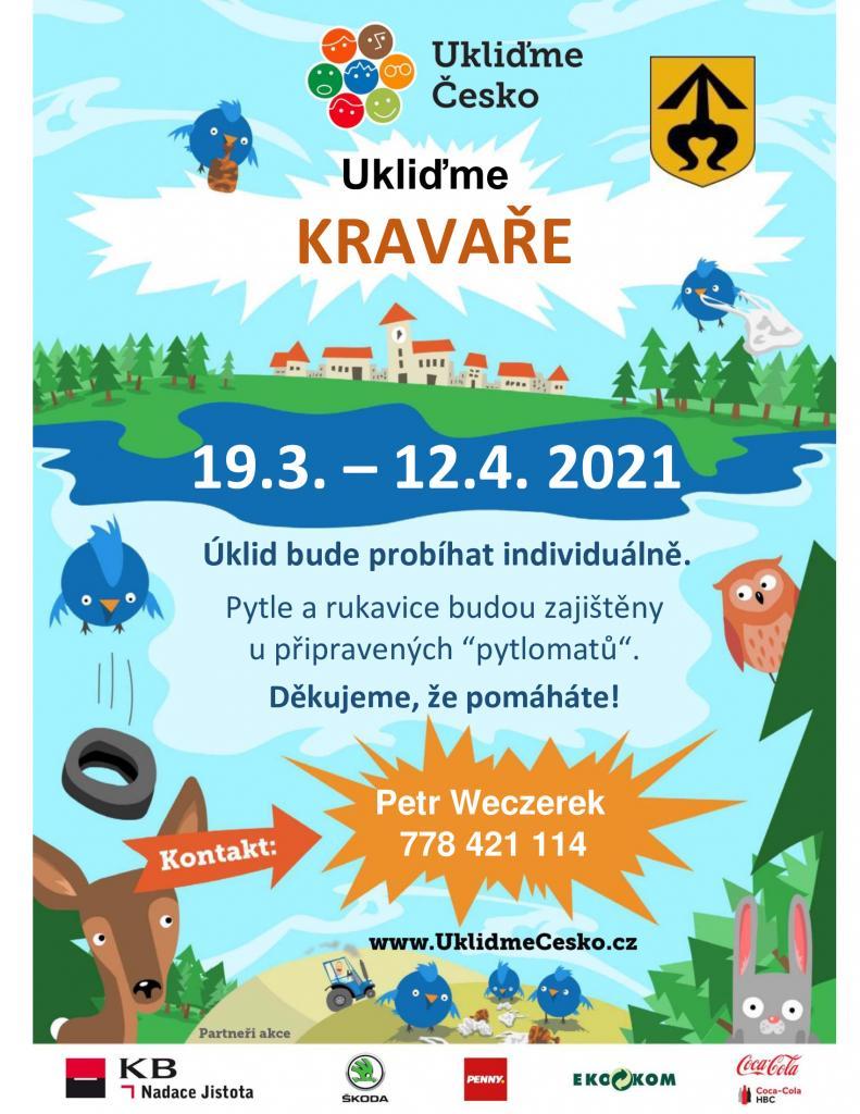 Plakát - Uklízíme Kravaře
