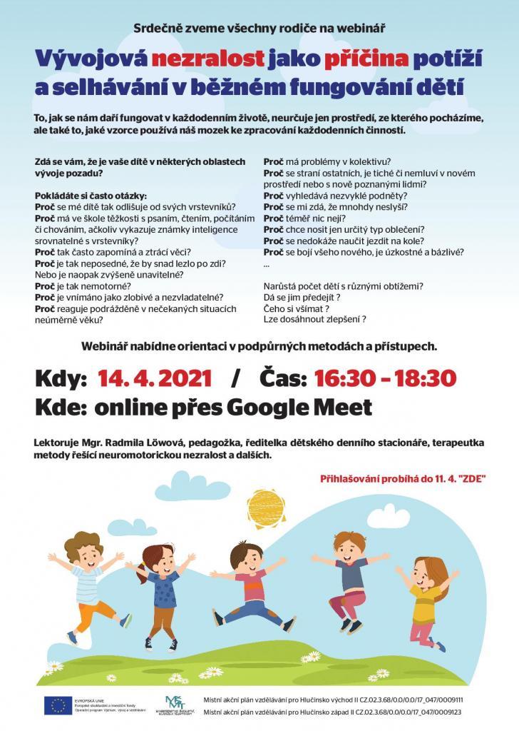 Plakát Webinář