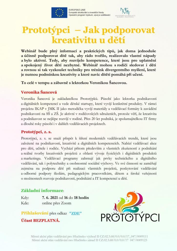 Obr. plakát webinář