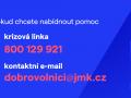 Plakát Krizová linka Jihomoravského kraje