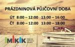 Prázdninová půjčovní doba městské knihovny