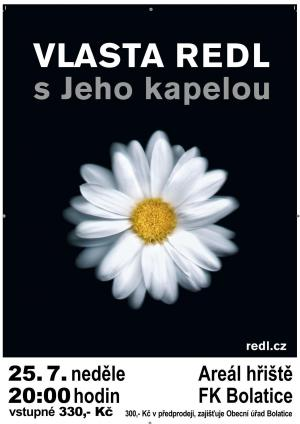 Plakát koncert Vlasta Redl