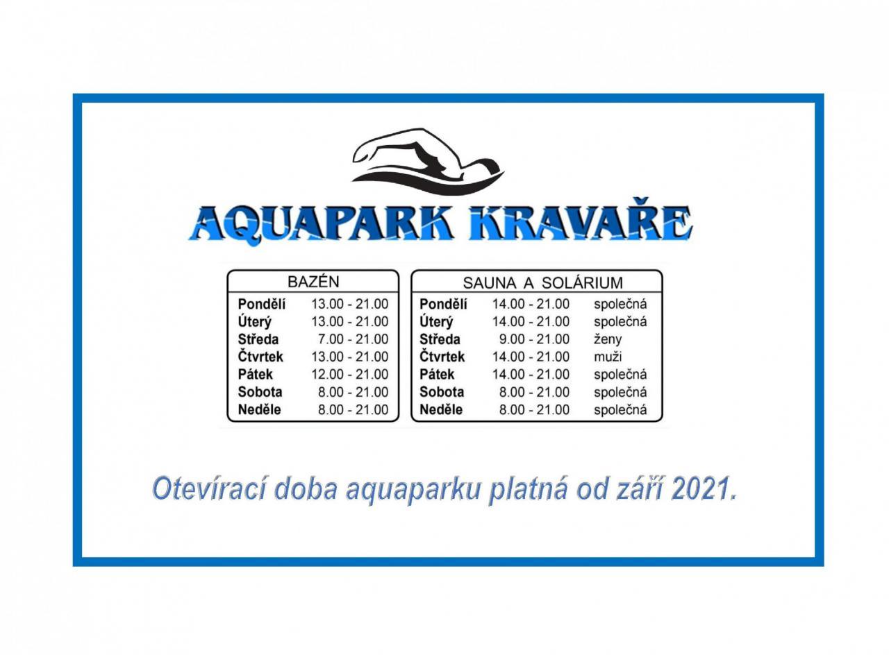 Plakát Otevírací doba od září 2021
