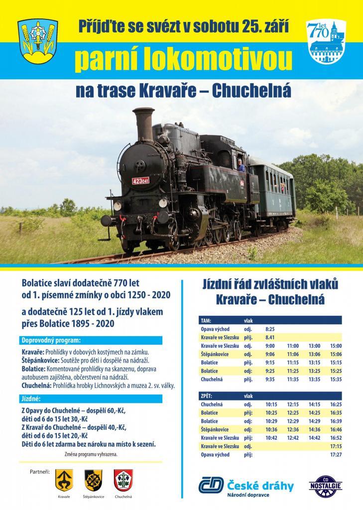 Plakát parní lokomotiva