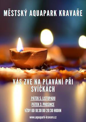 Plakát plavání při svíčkách